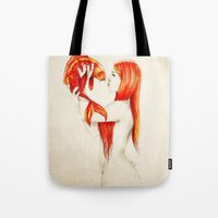 Playing Koi Tote Bag