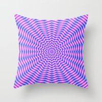 Hypnotic Star Ripples In… Throw Pillow