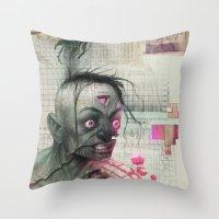 Self Analysis Defrag Throw Pillow