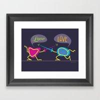 Love Is A Battlefield Framed Art Print