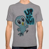 Up All Night!  Mens Fitted Tee Athletic Grey SMALL