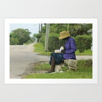 Eleutheran Woman Reading… Art Print