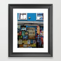 Hippies Use The Side Doo… Framed Art Print