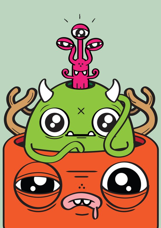 Monster Mind Canvas Print