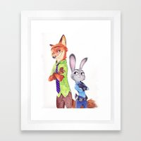NickJudy Ballpoint Pen Drawing Framed Art Print