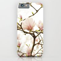 iPhone & iPod Case featuring Queen For A Day Pink Magnolia Flower by Kimberly Blok