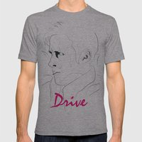 DRIVE Mens Fitted Tee Athletic Grey SMALL