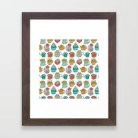 Pattern Project #5 / Cat… Framed Art Print