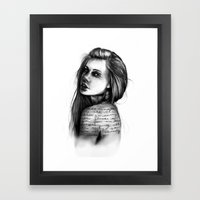Periphery // Illustration by Hayley Wright Framed Art Print