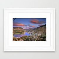Lenticular Clouds At The… Framed Art Print