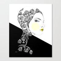 yellow kiss Canvas Print