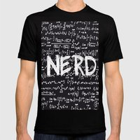 Nerd Mens Fitted Tee Black SMALL