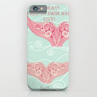 iPhone & iPod Case featuring FINALLY! Whales are free from persecution! by Sylvie Heasman