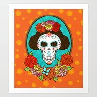 Day of the Dead Beauty Art Print