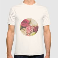 Vintage Roses  Mens Fitted Tee Natural SMALL