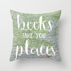 Books Take You Places Throw Pillow