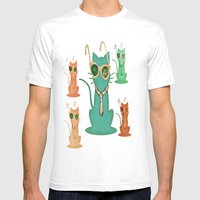 Cool Cats Mens Fitted Tee White SMALL