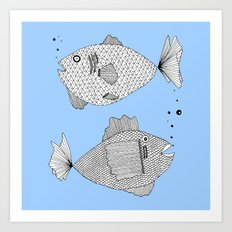 fish bed Art Print