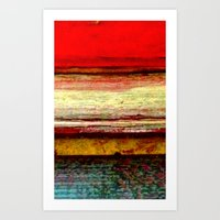 Sunset in Bali Art Print