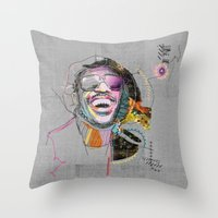 Throw Pillow featuring Stevie Wonder by Fitacola