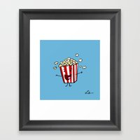 Buttered Popcorn Framed Art Print