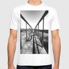 Theodore Roosevelt Beach Path SMALL Mens Fitted Tee White