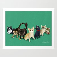 CH Kitties Art Print