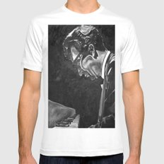 brubeck SMALL White Mens Fitted Tee