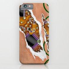 Ripped Paper Bag Circuit Board iPhone 6s Slim Case