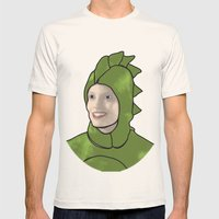 Dinosaur Britta Mens Fitted Tee Natural SMALL