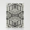 Geometric in Black and Beige Stationery Cards