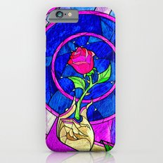 Beauty And The Beast Red Rose Flower iPhone 6 Slim Case