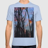 Sunset Through the Tangled Trees Mens Fitted Tee Athletic Blue SMALL