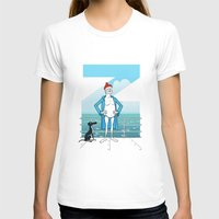 wes anderson T-shirts featuring THE LIFE AQUATIC WITH STEVE ZISSOU (Wes Anderson, 2004) by Mario Morales