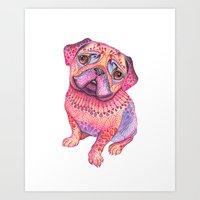 Pugberry Art Print