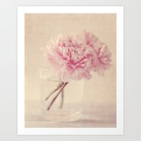 Textured Carnations In A… Art Print