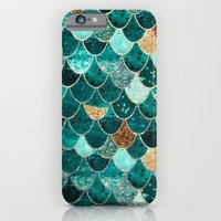 mermaid iPhone & iPod Cases featuring REALLY MERMAID by Monika Strigel
