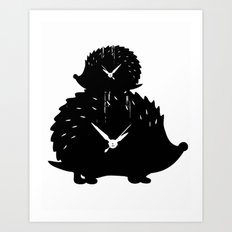 Timed Porcupine Art Print