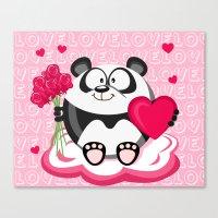 Valentin panda in February month series Canvas Print