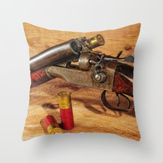 Old Double Barrel Stevens Throw Pillow