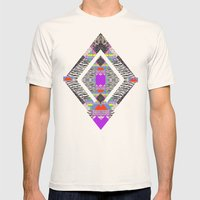 RETRO KALEIDOSKOPE   Mens Fitted Tee Natural SMALL