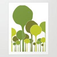 Green Palette Art Print