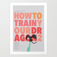 How to train your dragon 2 - minimal poster Art Print