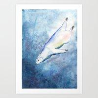 Deep Diving Art Print