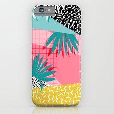 Bingo - throwback retro memphis neon tropical socal desert festival trendy hipster pattern pop art  iPhone 6 Slim Case