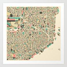 Miami Map Art Print