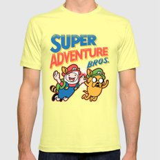 Super Adventure Bros Mens Fitted Tee Lemon SMALL
