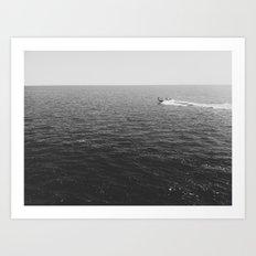 one if by lake Art Print