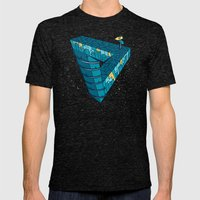 City night Mens Fitted Tee Tri-Black SMALL