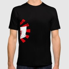 Japan - Land of the rising blood. Mens Fitted Tee Black SMALL